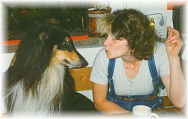 Collie with breeder